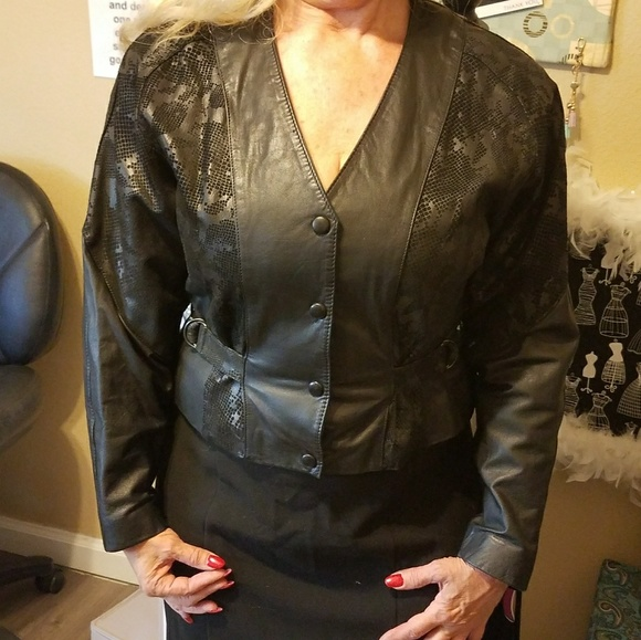 Chia Jackets & Blazers - REDUCED-Chia Leather Jacket